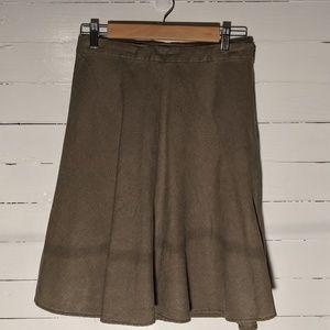 Banana Republic Factory Green Linen Skirt